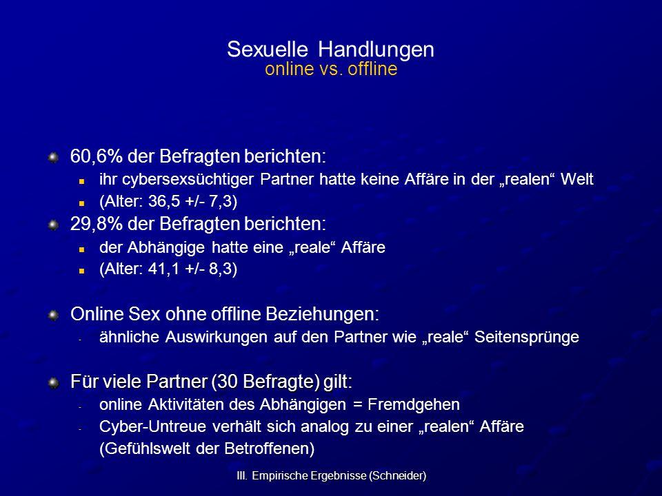 Sexuelle Handlungen online vs. offline