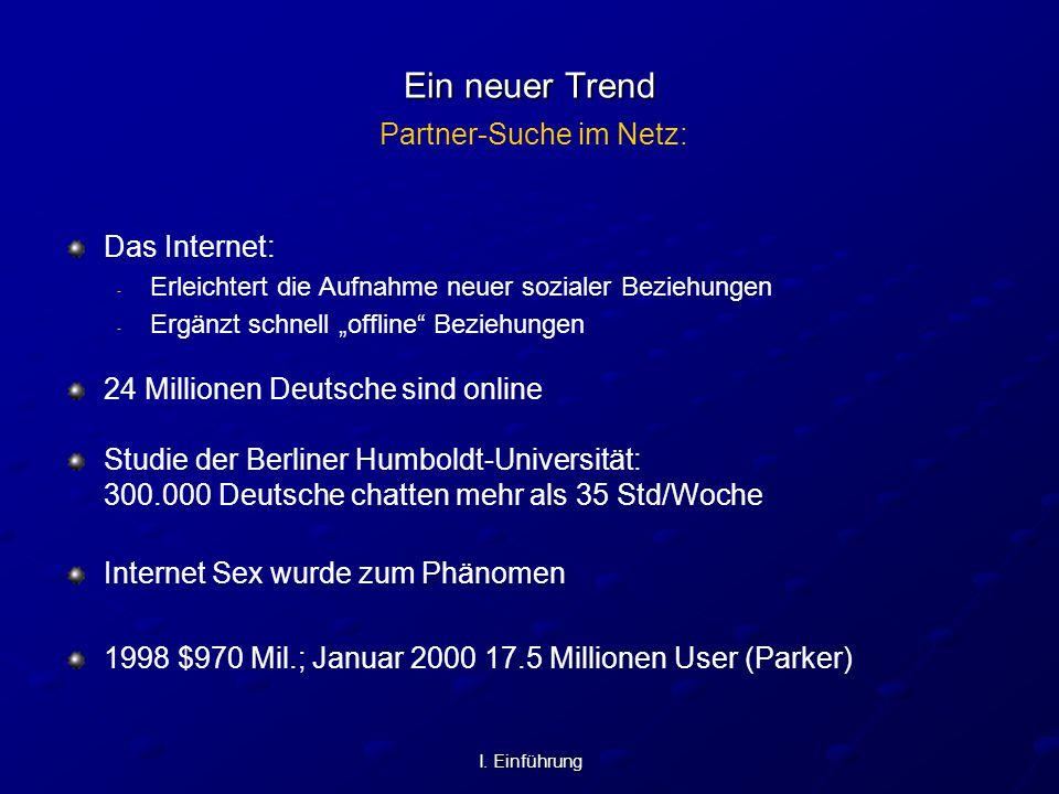 Ein neuer Trend Partner-Suche im Netz: