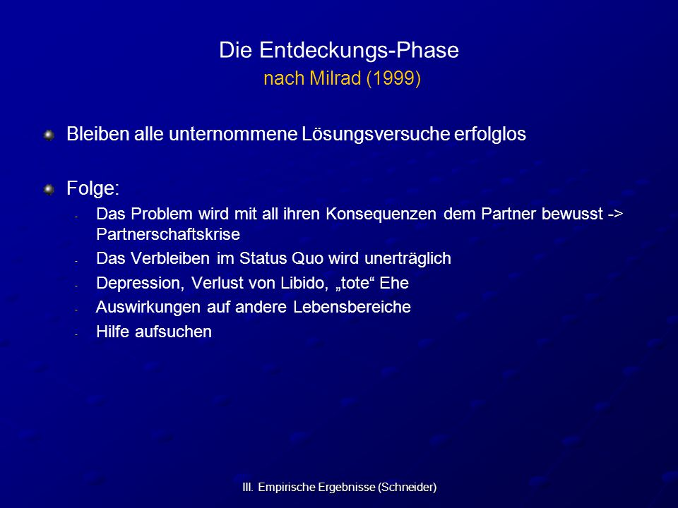Die Entdeckungs-Phase nach Milrad (1999)