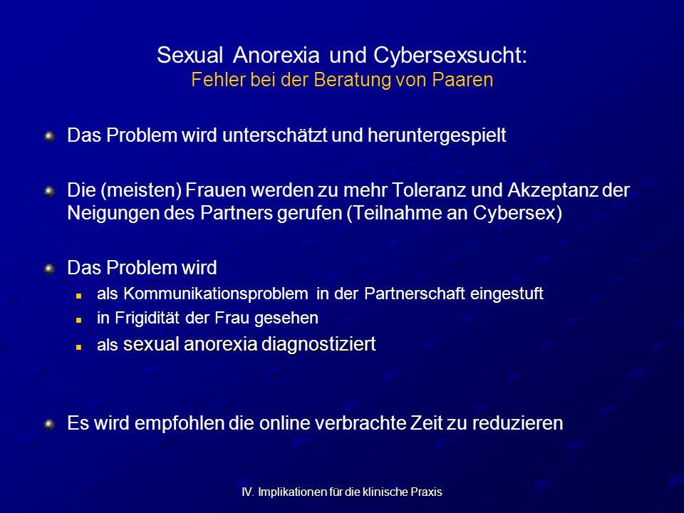 Sexual Anorexia und Cybersexsucht: Fehler bei der Beratung von Paaren