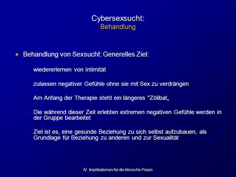 Cybersexsucht: Behandlung