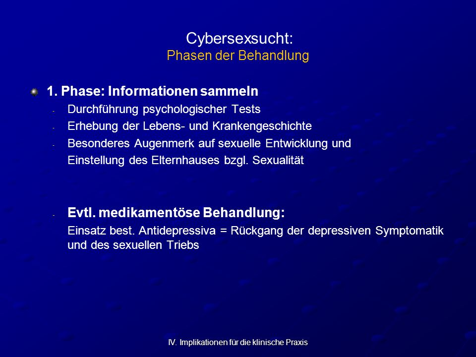 Cybersexsucht: Phasen der Behandlung