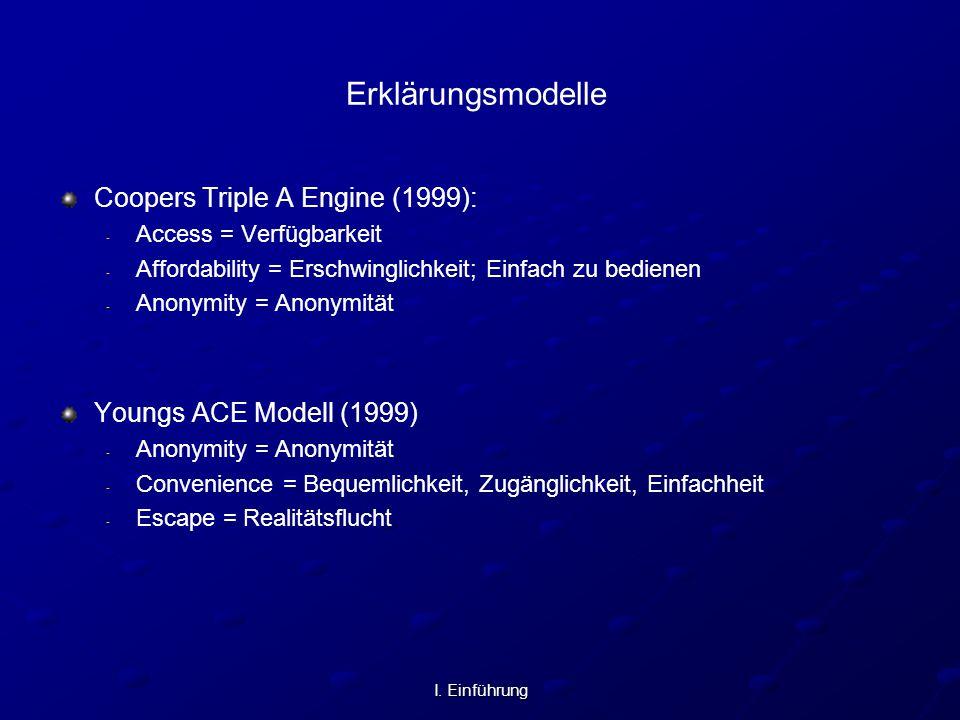 Erklärungsmodelle Coopers Triple A Engine (1999):