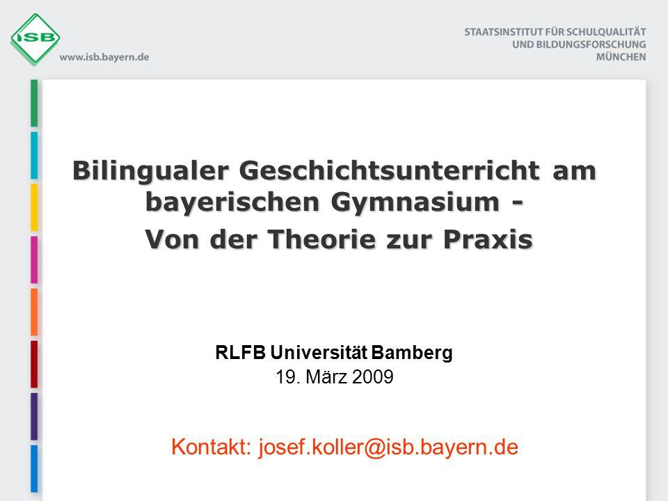 RLFB Universität Bamberg 19. März 2009