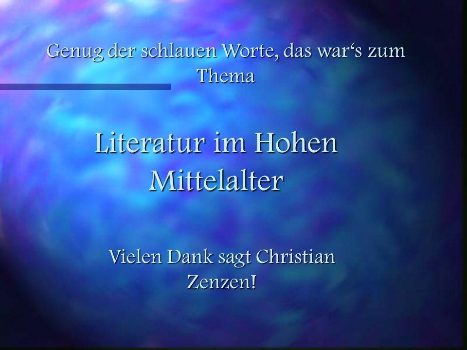Literatur im Hohen Mittelalter