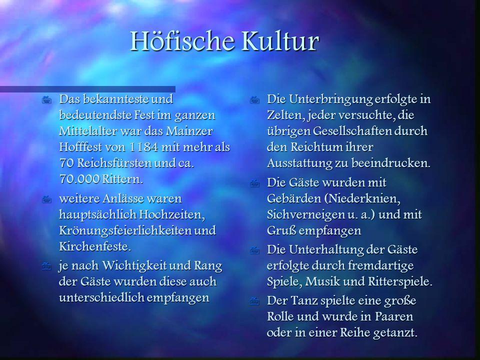 Höfische Kultur