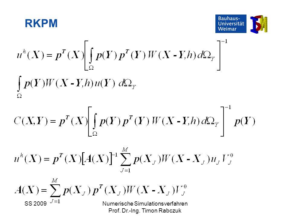 RKPM SS 2009 Numerische Simulationsverfahren