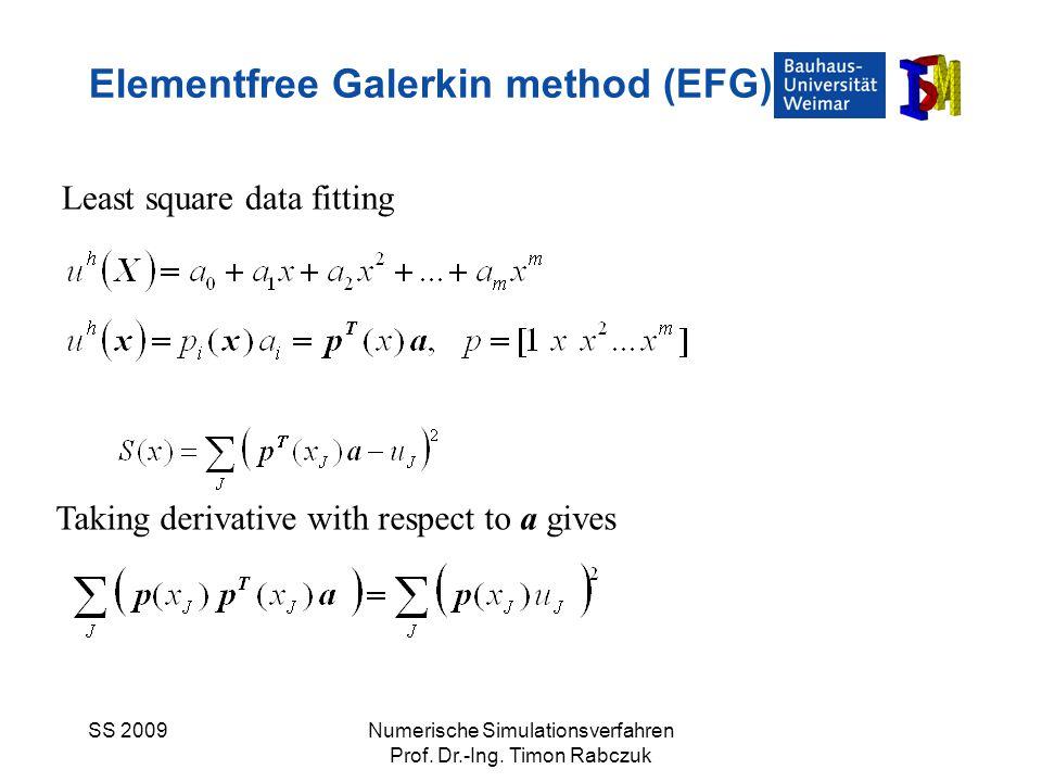 Elementfree Galerkin method (EFG)