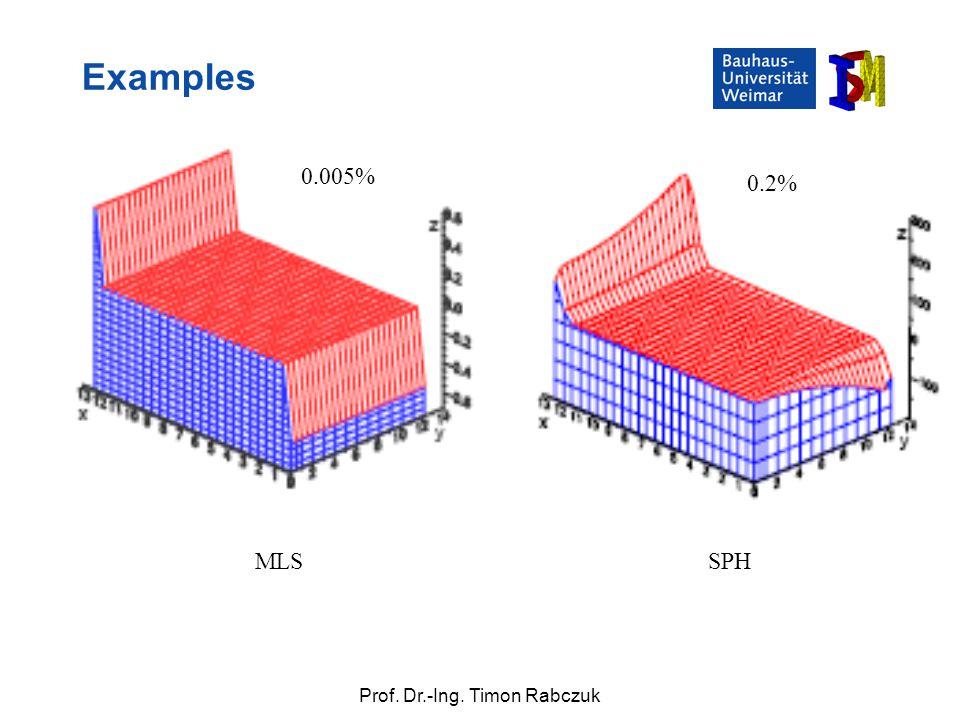 Examples 0.005% 0.2% MLS SPH SS 2009 Numerische Simulationsverfahren