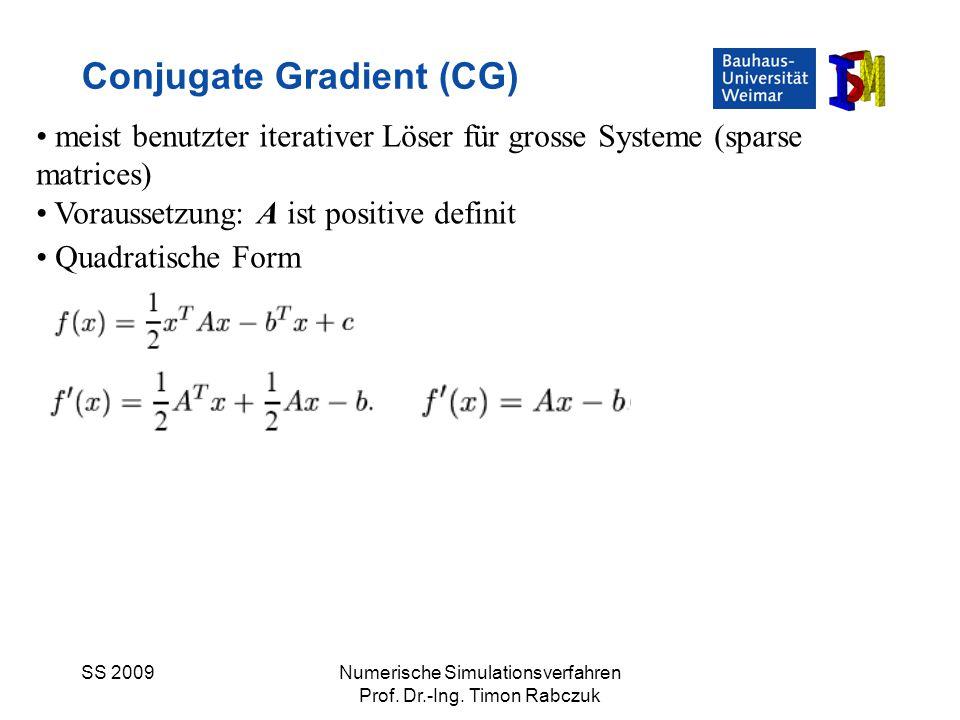 Conjugate Gradient (CG)
