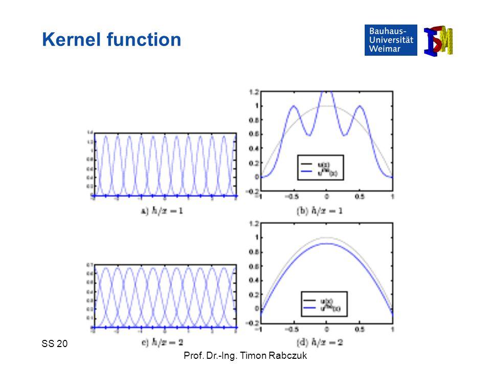 Kernel function SS 2009 Numerische Simulationsverfahren