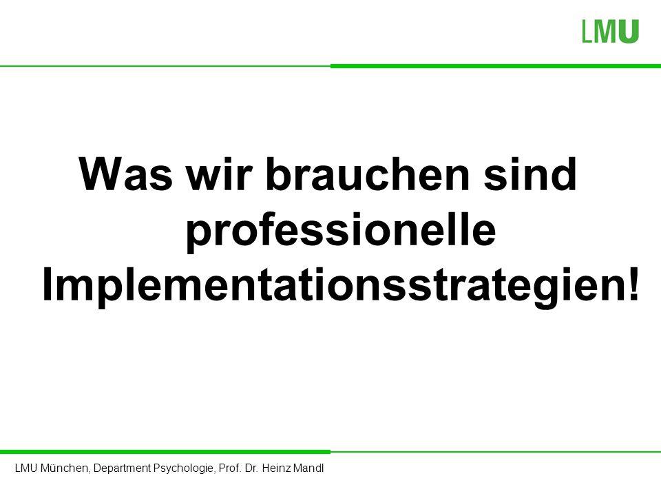 Was wir brauchen sind professionelle Implementationsstrategien!