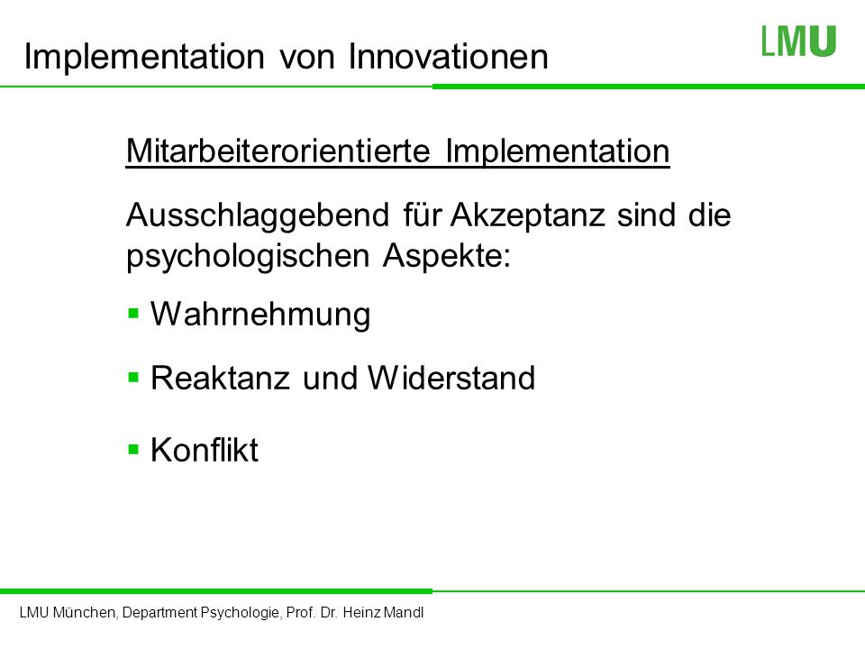 Implementation von Innovationen