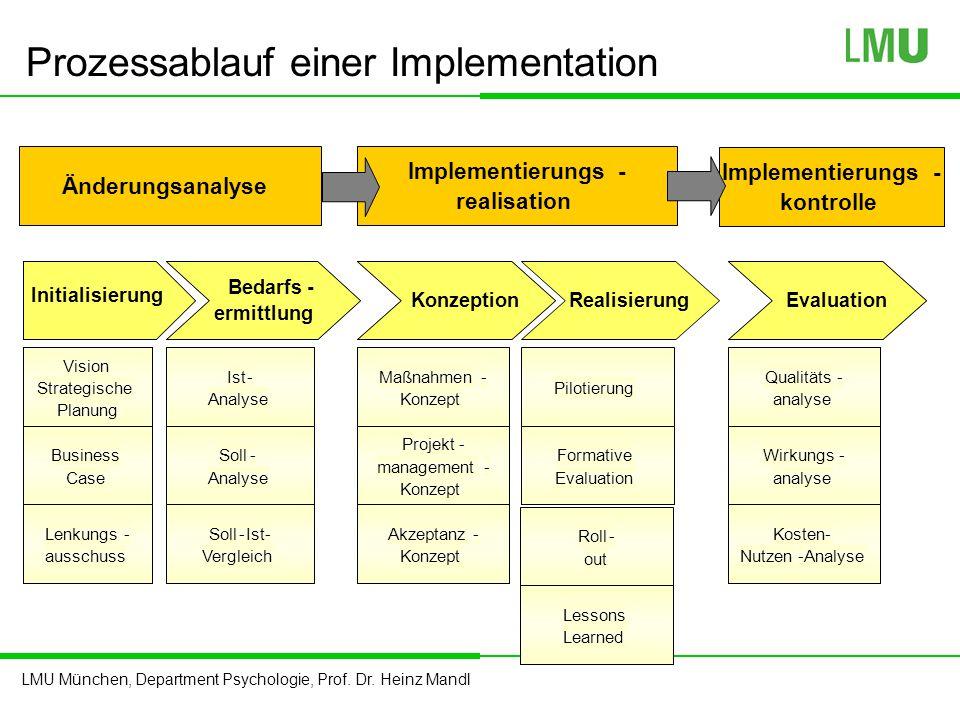 Prozessablauf einer Implementation