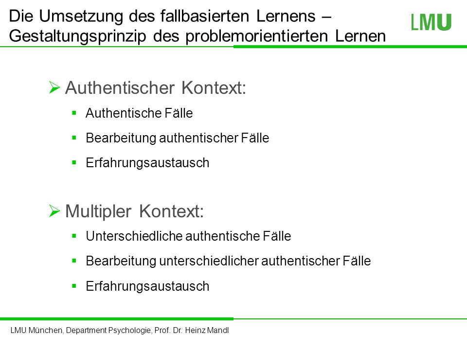 Authentischer Kontext: