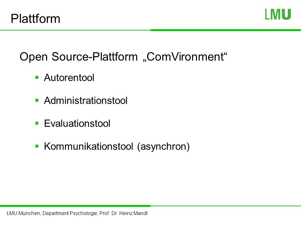 "Plattform Open Source-Plattform ""ComVironment Autorentool"