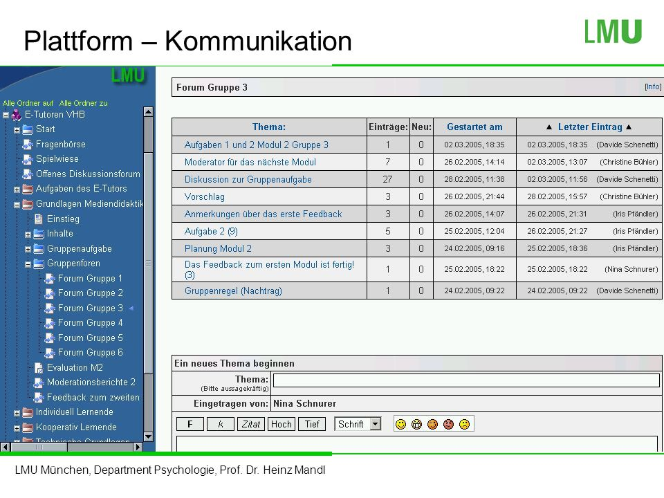 Plattform – Kommunikation