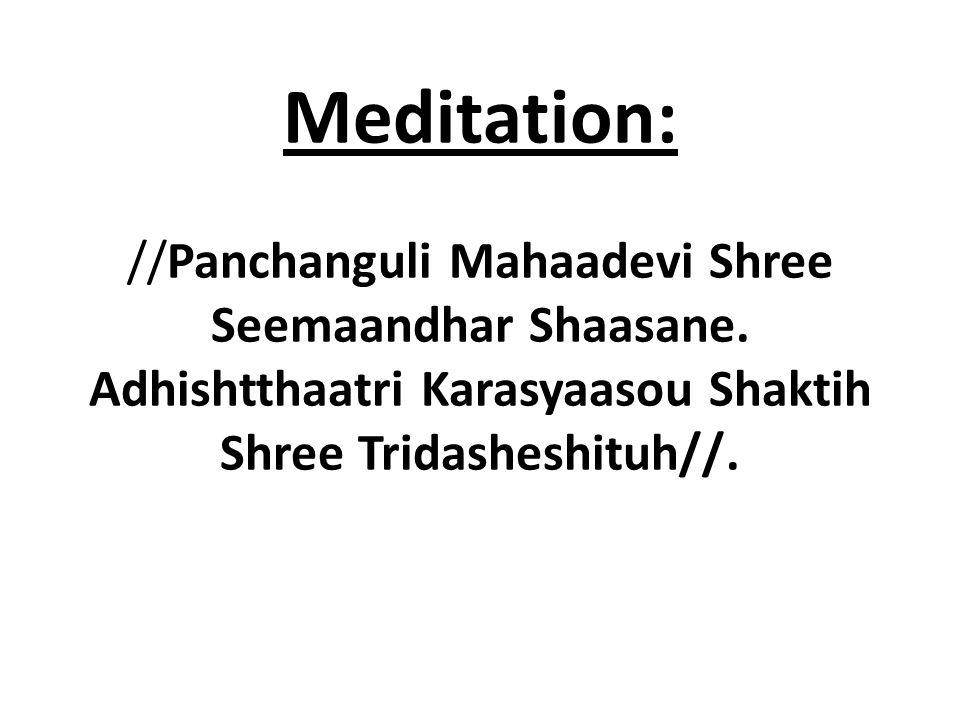 Meditation: //Panchanguli Mahaadevi Shree Seemaandhar Shaasane