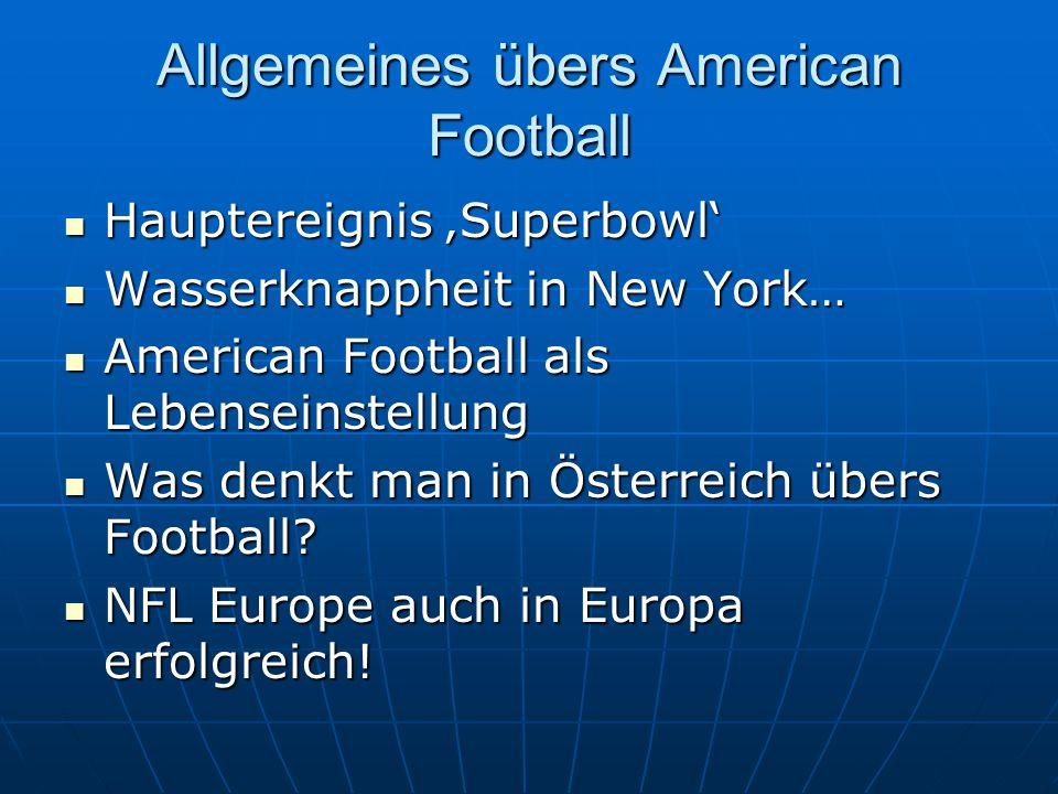 Allgemeines übers American Football