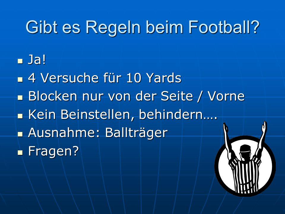 Gibt es Regeln beim Football