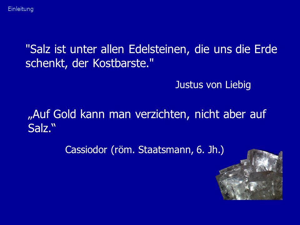 """""""Auf Gold kann man verzichten, nicht aber auf Salz."""
