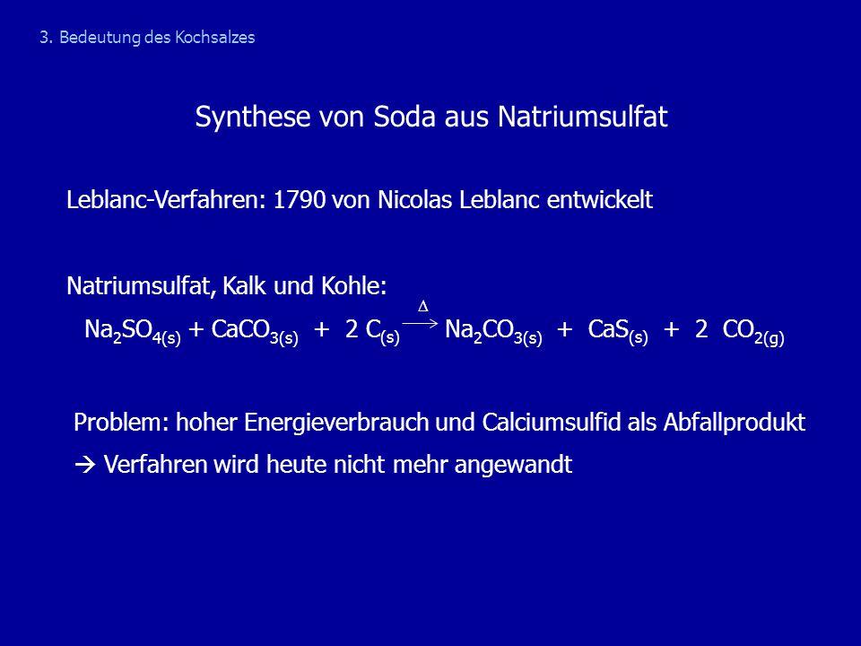 Synthese von Soda aus Natriumsulfat
