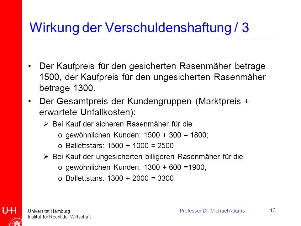 Wirkung der Verschuldenshaftung / 3