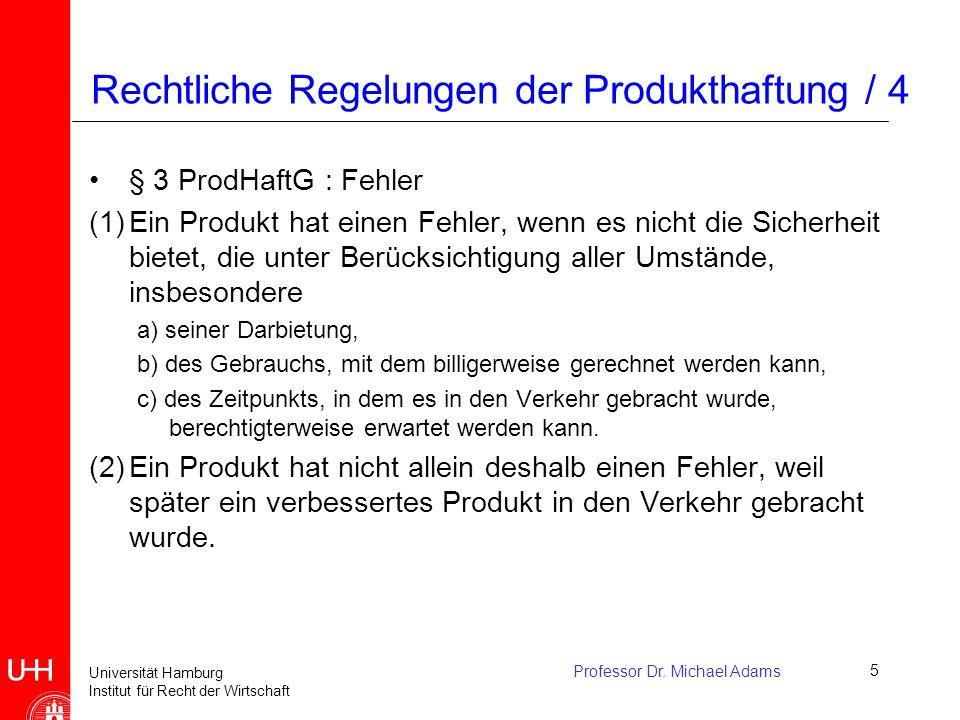 Rechtliche Regelungen der Produkthaftung / 4