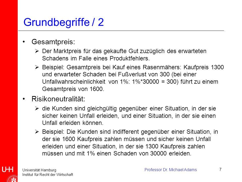 Grundbegriffe / 2 Gesamtpreis: Risikoneutralität: