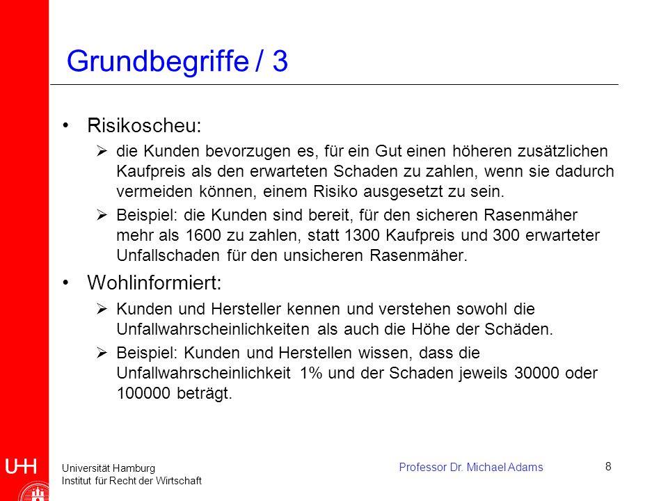 Grundbegriffe / 3 Risikoscheu: Wohlinformiert: