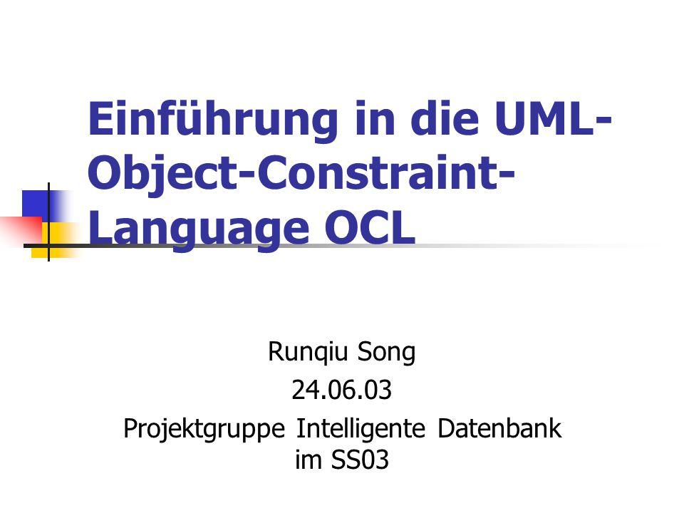 Einführung in die UML-Object-Constraint-Language OCL