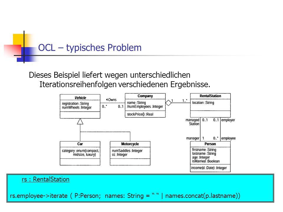 OCL – typisches Problem