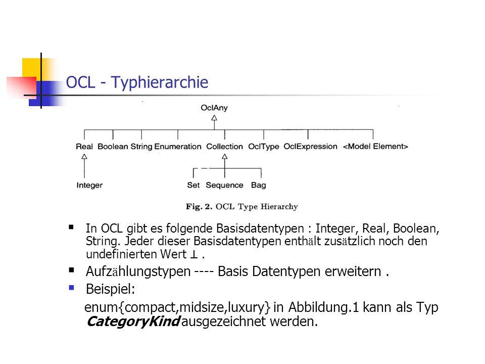 OCL - Typhierarchie Aufzählungstypen ---- Basis Datentypen erweitern .