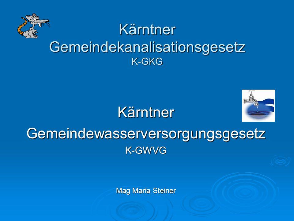 Kärntner Gemeindekanalisationsgesetz K-GKG