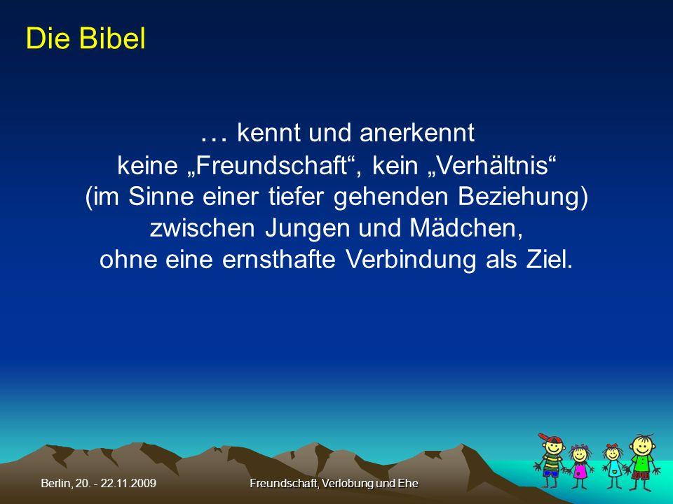 Die Bibel … kennt und anerkennt