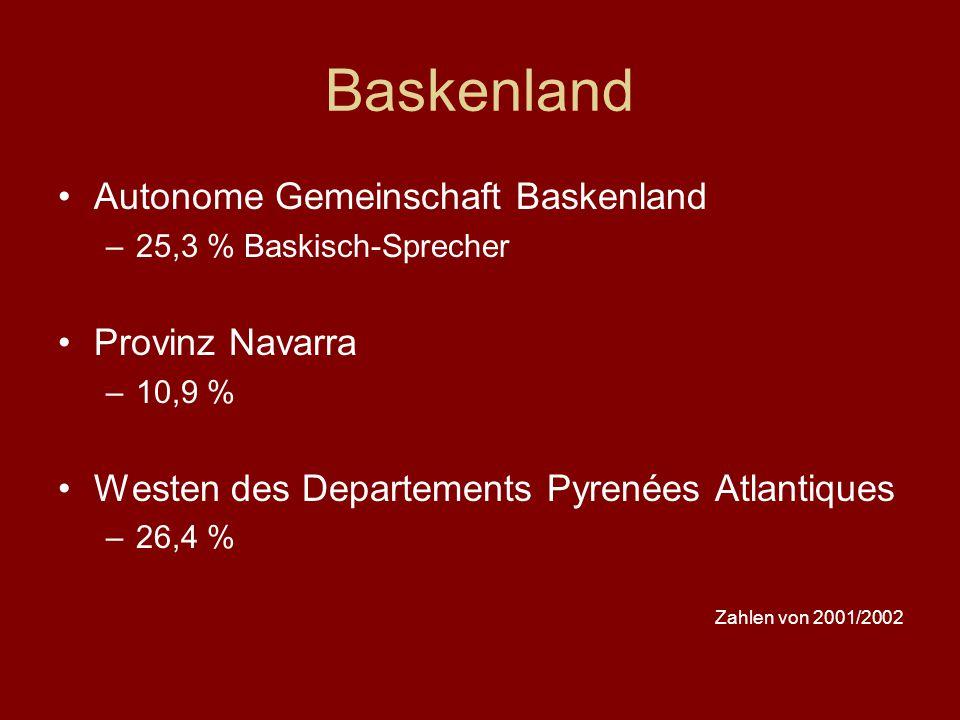 Baskenland Autonome Gemeinschaft Baskenland Provinz Navarra