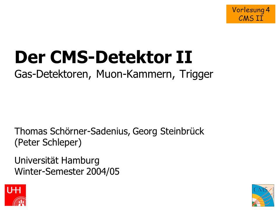 Der CMS-Detektor II Gas-Detektoren, Muon-Kammern, Trigger