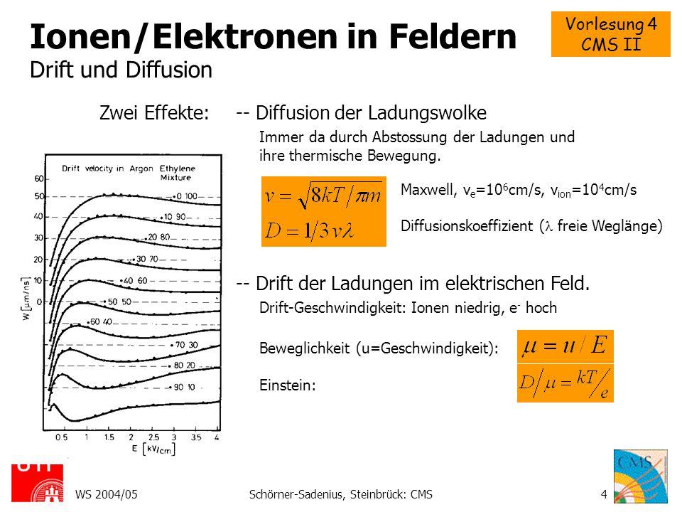 Ionen/Elektronen in Feldern Drift und Diffusion