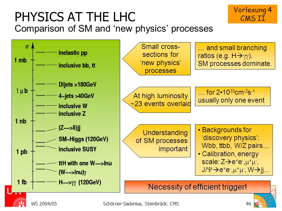PHYSICS AT THE LHC Comparison of SM and 'new physics' processes
