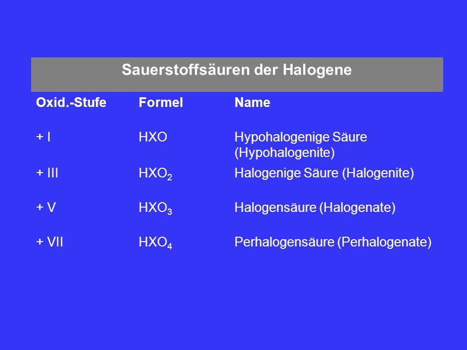 Sauerstoffsäuren der Halogene