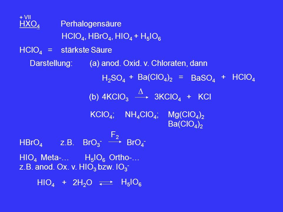 (a) anod. Oxid. v. Chloraten, dann