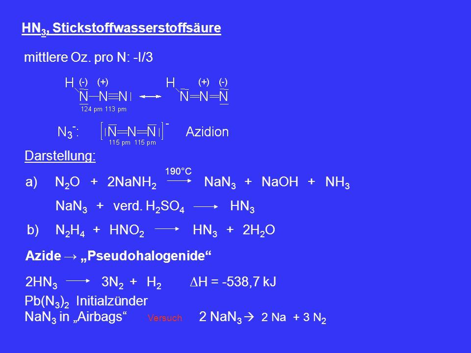 HN3, Stickstoffwasserstoffsäure