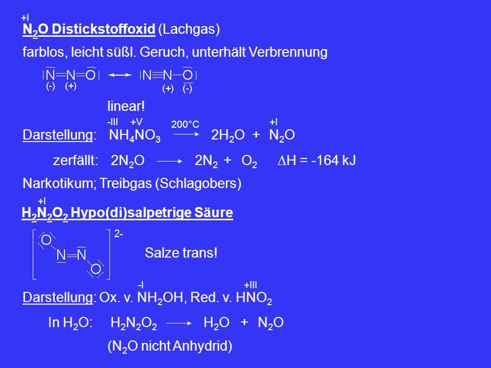 N2O Distickstoffoxid (Lachgas)