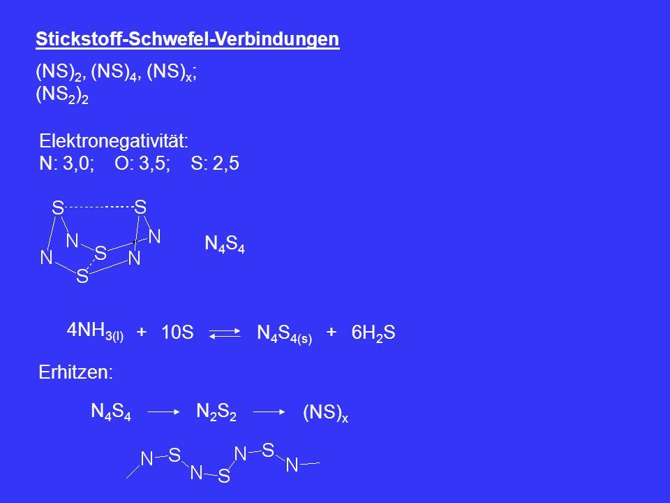Stickstoff-Schwefel-Verbindungen