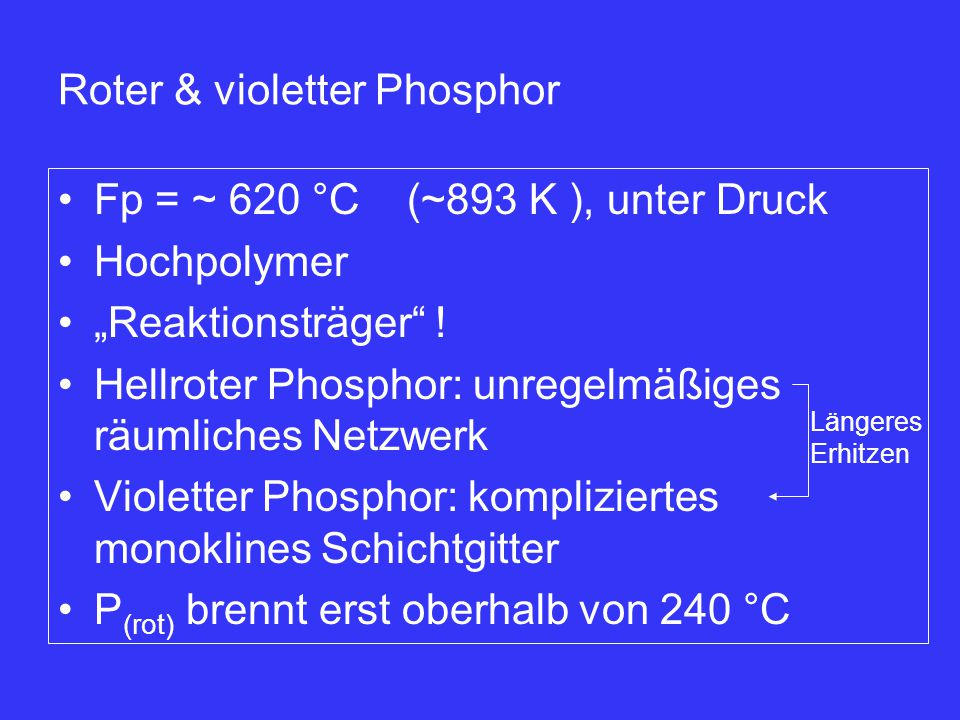 verbrennung phosphor reaktionsgleichung