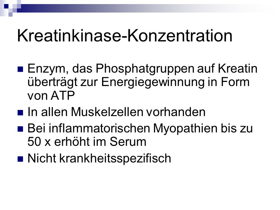 Kreatinkinase-Konzentration