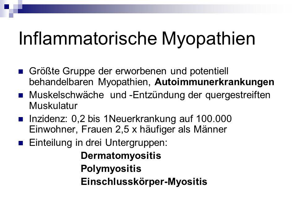 Inflammatorische Myopathien
