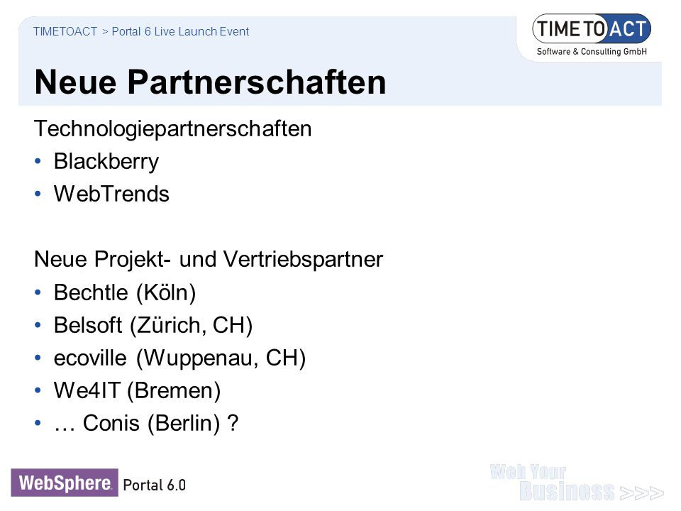 Neue Partnerschaften Technologiepartnerschaften Blackberry WebTrends
