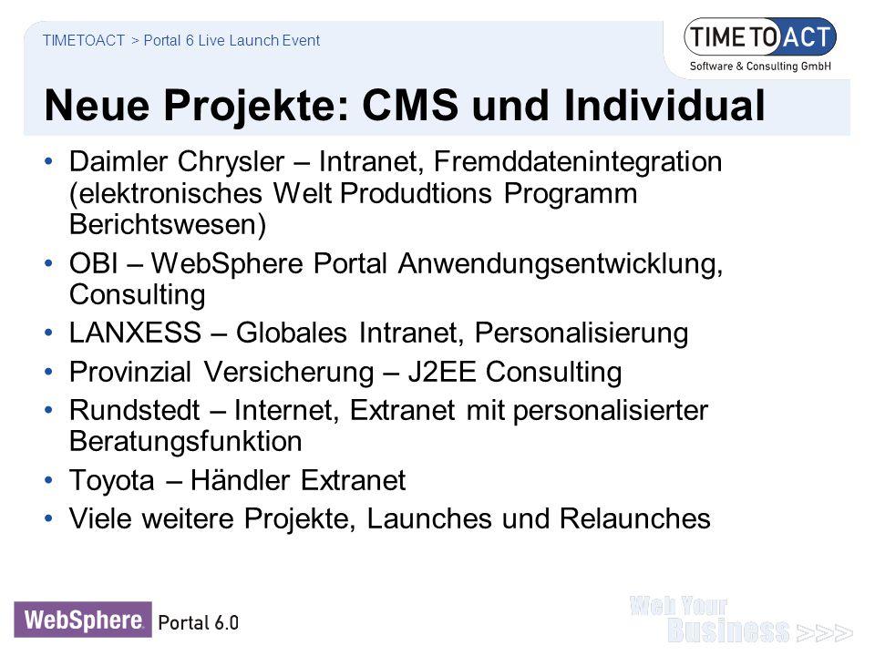 Neue Projekte: CMS und Individual