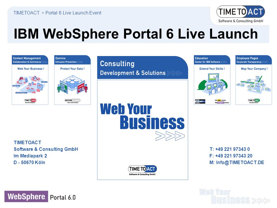 IBM WebSphere Portal 6 Live Launch